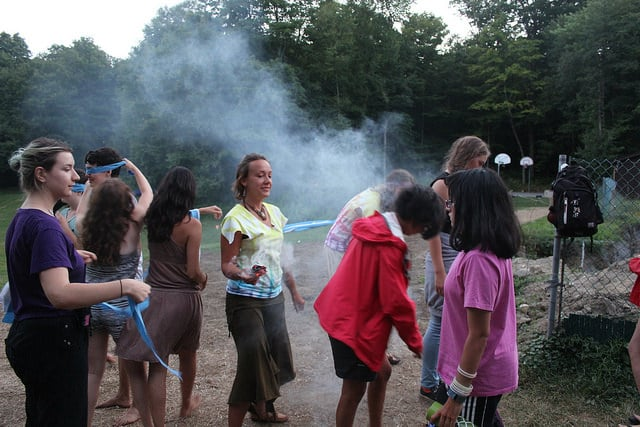 Fire Walking at Odyssey Teen Camp