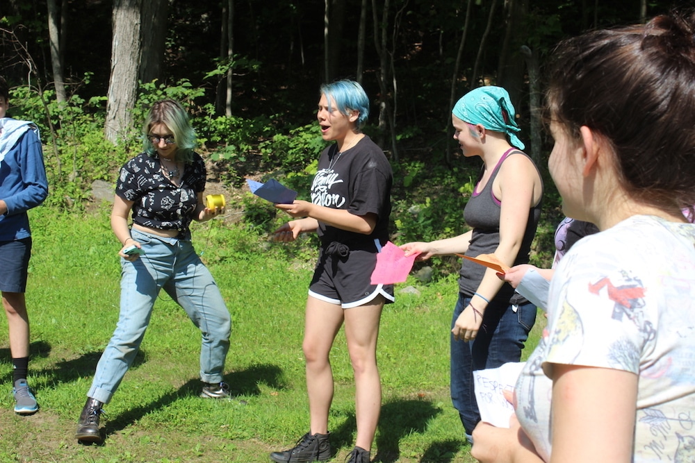 Poetry at Odyssey Teen Camp