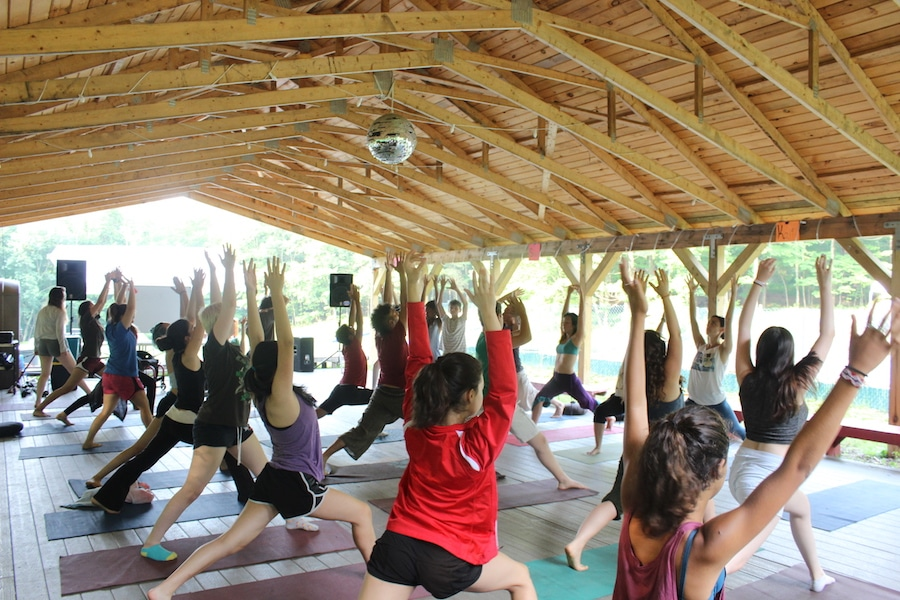 Yoga at Odyssey Teen Camp