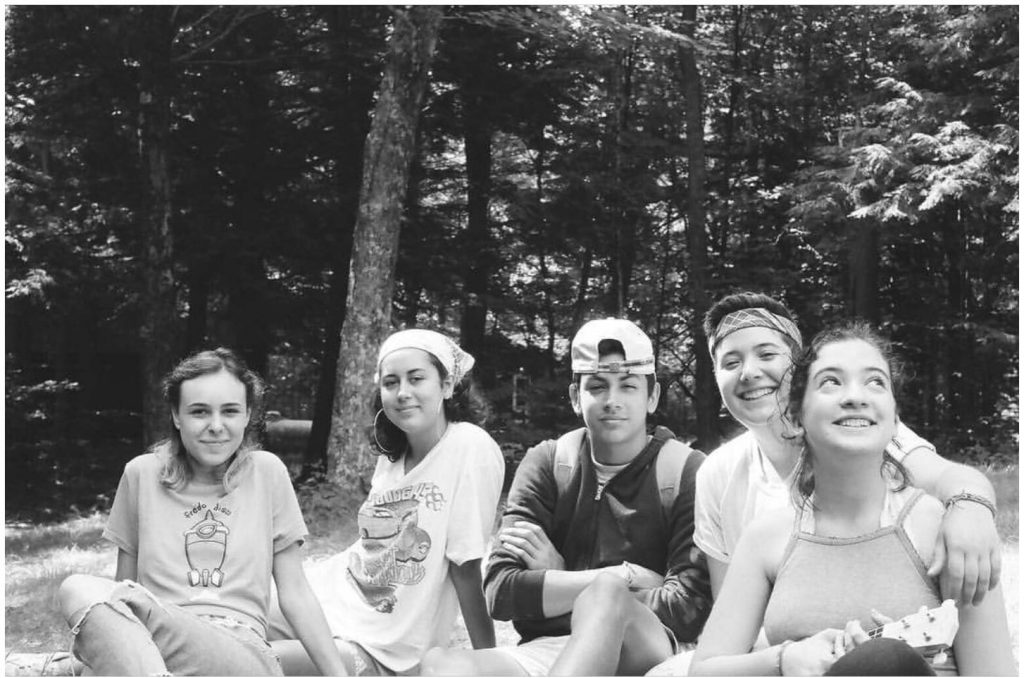 Kendall with friends at camp.